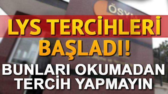 ÖSYM TERCİHLERİ BAŞLADI...